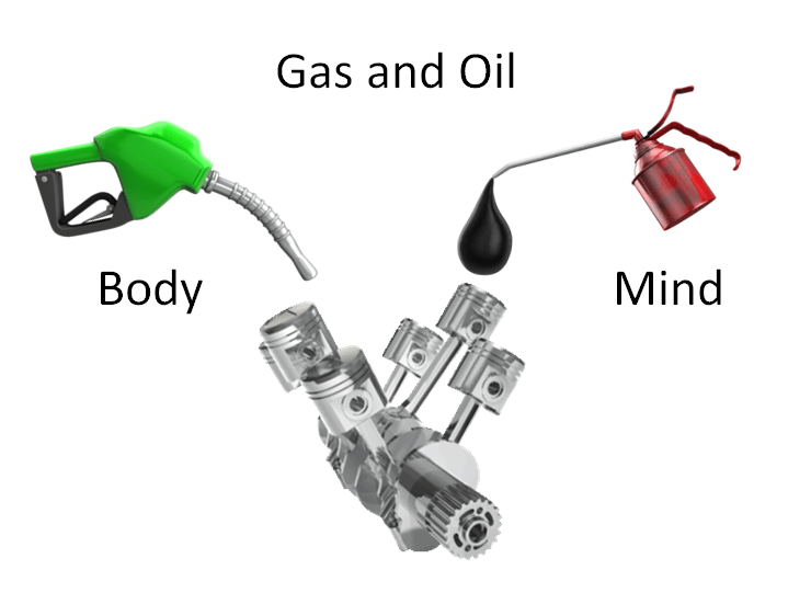 You need both gas and oil for your car to run well