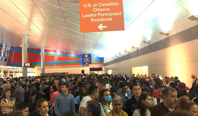 Long Lines at Airport After the Ban